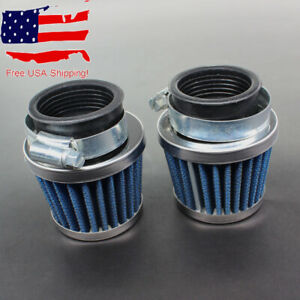 2x Universal Motorcycle Air Filter For 34mm 35mm 36mm Dirt Pit Bikes Moped ATV $9.95