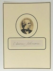 Authentic Autograph Signed Cut 17th US President Andrew Johnson Abe Lincoln VP $895.00
