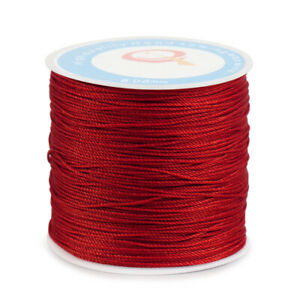 Waxed Sewing Thread String 0.6mm Round Cord for Leather Stitching DIY Craft 87YD $5.98