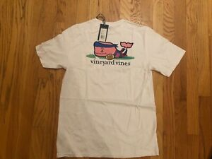NWT Boy's Vineyard Vines Football Flag Whale Pocket T Shirt Size S L Or X Large