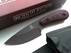 Red G10 Horizontal Conceal Carry Full Tang Fixed Blade Knife Kydex Sheath Small $32.95