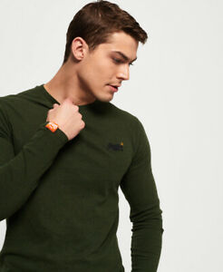 Superdry Mens Organic Cotton Vintage Embroidery Long Sleeve Top $16.99