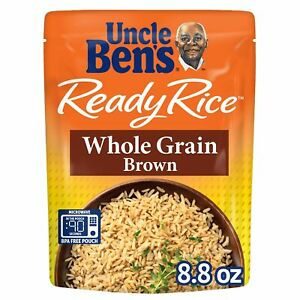 UNCLE BEN'S Ready Rice: Whole Grain Brown 12pk 8.8 Ounce Pack of 12
