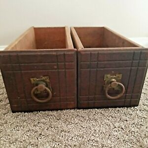 Antique Vintage Sewing Machine Drawers Parts Salvage Lot Of 2 $29.95