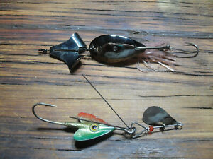 Lot Of 2 Vintage Lures Spoon Buzz And Arbogast Hawaiian Spinnerbait