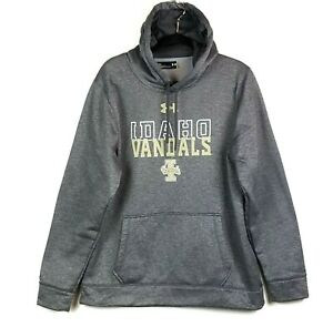 Under Armour Cold Gear Hoodie Size Large Loose Gray University Of Idaho Vandals $23.96