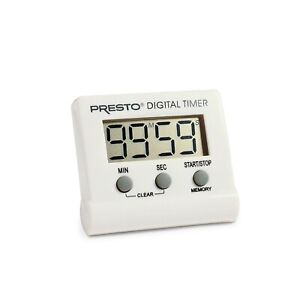 Presto 04213 Electronic Digital Timer White