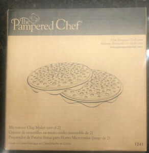 Microwave Chip Maker by Pampered Chef Set of 2 1241 $9.99