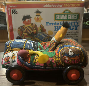 Sesame Street Muppet Plush Toy Buggy With Box Knickerbocker VTG 1975 W Ernie