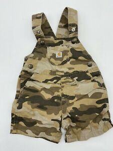Infant boy's Carhartt camouflage overalls shorts 12 months Pre owned