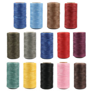 284YD Flat Waxed Leather Sewing Thread Cord 150D Polyester for Leather DIY Craft $6.96