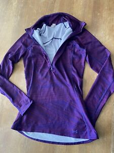 WOMENS PURPLE UNDER ARMOUR COLD GEAR SLIMMING ZIP JACKET SIZE SM P $29.99