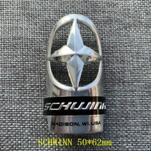 1X Schwinn Bicycle Alloy Head Badge Decals Stickers Free Shipping $15.00