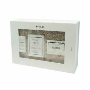 Woodlot Essentials Gift Set 3 Pc Candle Essential Oil amp; Recharge Soap Bar New