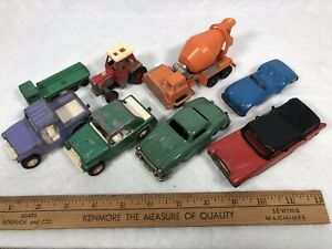 Vintage Metal Car Lot Toy Most 1960s