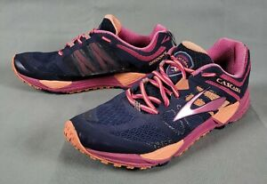 BROOKS CASCADIA 11 Trail Womens Running Shoes Size 10 Blue Pink $32.00