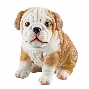 Hand Painted Cute Resin Puppies Outdoor Sculptures $14.99