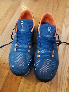 On Cloud X Mens Running Shoes Size 8 Teal Orange $45.00