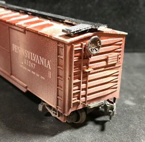 HO Pennsylvania RR Boxcar Weathered 100% Tested Lot ZZ12 $15.00