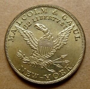 Pre Civil War NY 516 Choice UNC Malcolm amp; Gaul British French American Goods $109.00