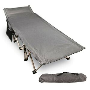 REDCAMP Folding Camping Cots for Adults 500lbs Double Layer Oxford Strong He...