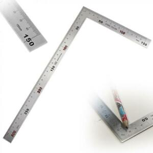 Stainless Steel Right Angle Ruler 150 x 300mm 90 Degree Angle Metric Ruler $7.55