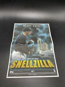 BLAKE SNELL 2020 TOPPS ARCHIVES BOX TOPPER SNELLZILLA MINI POSTER RAYS PADRES $3.99