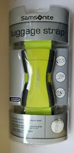 Samsonite Luggage Strap Belt Travel Accessory Neon Green. $12.90