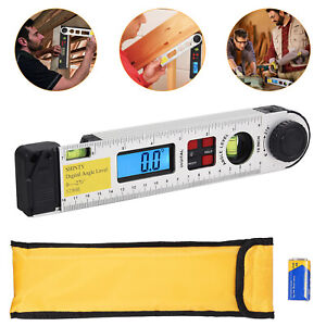 0 270° LCD Digital Protractor With Level Bubble Inclinometer Level Angle Finder $30.00