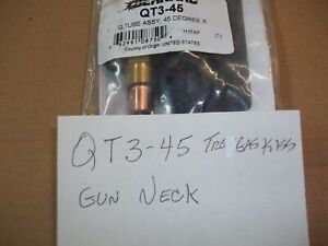 BERNARD QT3 45 Gun Neck 45* for Bernard Tregaskiss 400 amp Mig Guns $35.00