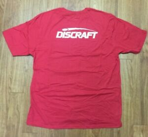 Discraft Staff Dry Fit Shirt Red Disc Golf $25.00