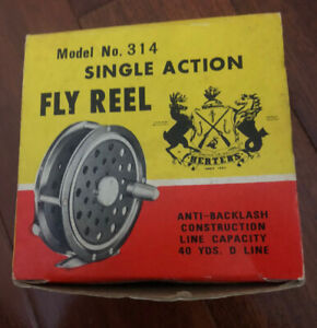 Vintage Herters Fly Fishing Reel Box Model 314 Box Only And Brochure