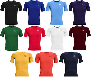 Under Armour Mens HeatGear Short Sleeve Compression Shirt 1361518 FREE SHIPPING $27.99