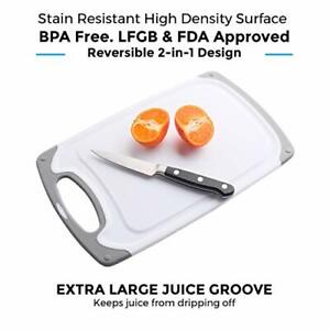 Freshware Cutting Board Set Set of 3 Juice Grooves with Easy Grip Handles $20.89