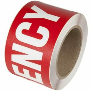 INCOM Manufacturing WTP106 Safety Message Floor Marking Tape 3quot; X 54#x27; EXITquot;