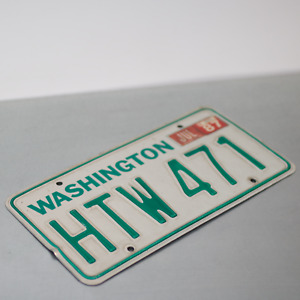 1970 Washington 70's State License Plate WA 80's Vintage 1980's