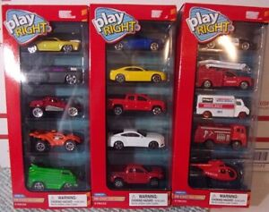 Lot Play Right Die cast Toy Cars 3 5 packs = 15 Cars Trucks amp; Emergency Vehic $14.99