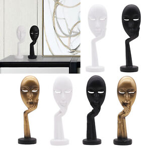 Thinker Sculpture Creative Figurine Home Office TV Cabinet Modern Statues $9.75