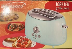 Brentwood TS 270BL Cool Touch 2 Slice Blue Retro Toaster $16.95
