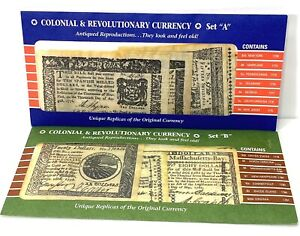 Antique Reproductions Colonial and Revolutionary Currency 1773 1781 Set A amp; B $10.00