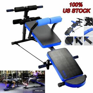 Adjustable Foldable Weight Bench Sit Up Bench Ab Abdominal Home Gym Exercise US $69.99