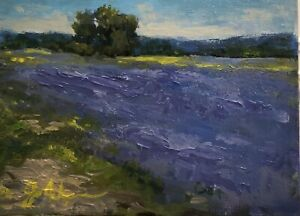 French Lavender Original Oil Painting 5x7 By Jo Ackerman $40.00