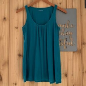 Eileen Fisher XS Teal Silk Blend Tank Top $24.00