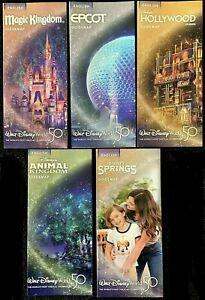 NEW 2021 Walt Disney World Theme Park Guide Maps 5 Current Maps Free Shipping $2.99