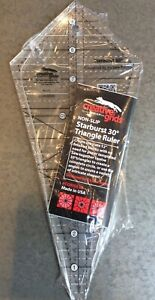 NON SLIP STARBURST 30 DEGREE TRIANGLE RULER #CGRISE30 BY CREATIVE GRIDS $23.95