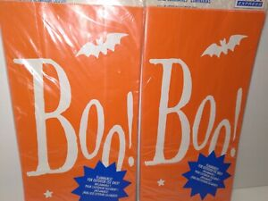 Orange Luminarias Luminary Halloween Bags Sacs