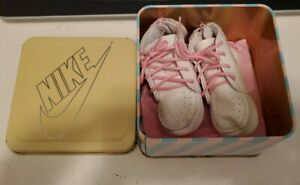 Nike Air Vintage 80s Infant Baby Shoes W Rare Tin Box PINK 0850204FT $119.99