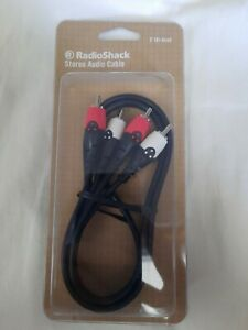 3 ft Stereo Audio Cable Left right RCA Phono 4200487 $12.80