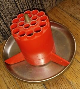 Vintage 60s Rotating cup Pencil desk organizer art deco style vintage holder $29.90