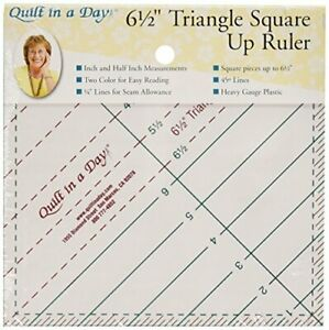 Quilt In A Day 6 1 2 Inch by 6 1 2 Inch Triangle Square Up Ruler $13.95